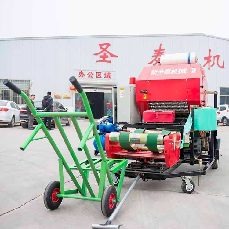 云南青儲玉米秸稈包膜機