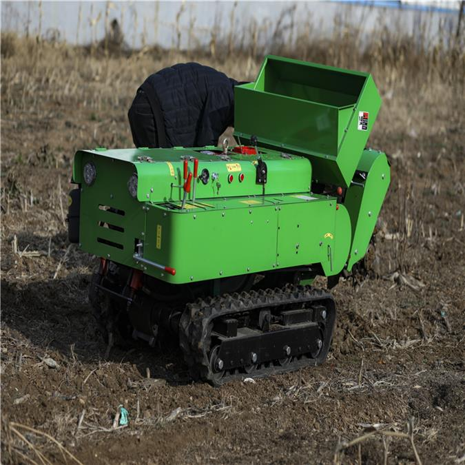 廠家新款履帶式旋耕機 多功能田園管理機 果園遙控微耕機批發