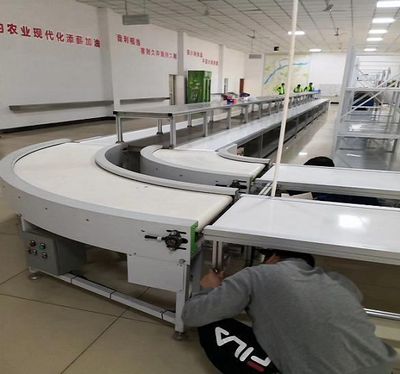 食品生產皮帶流水線轉彎機等設備由博萃專業設計制造
