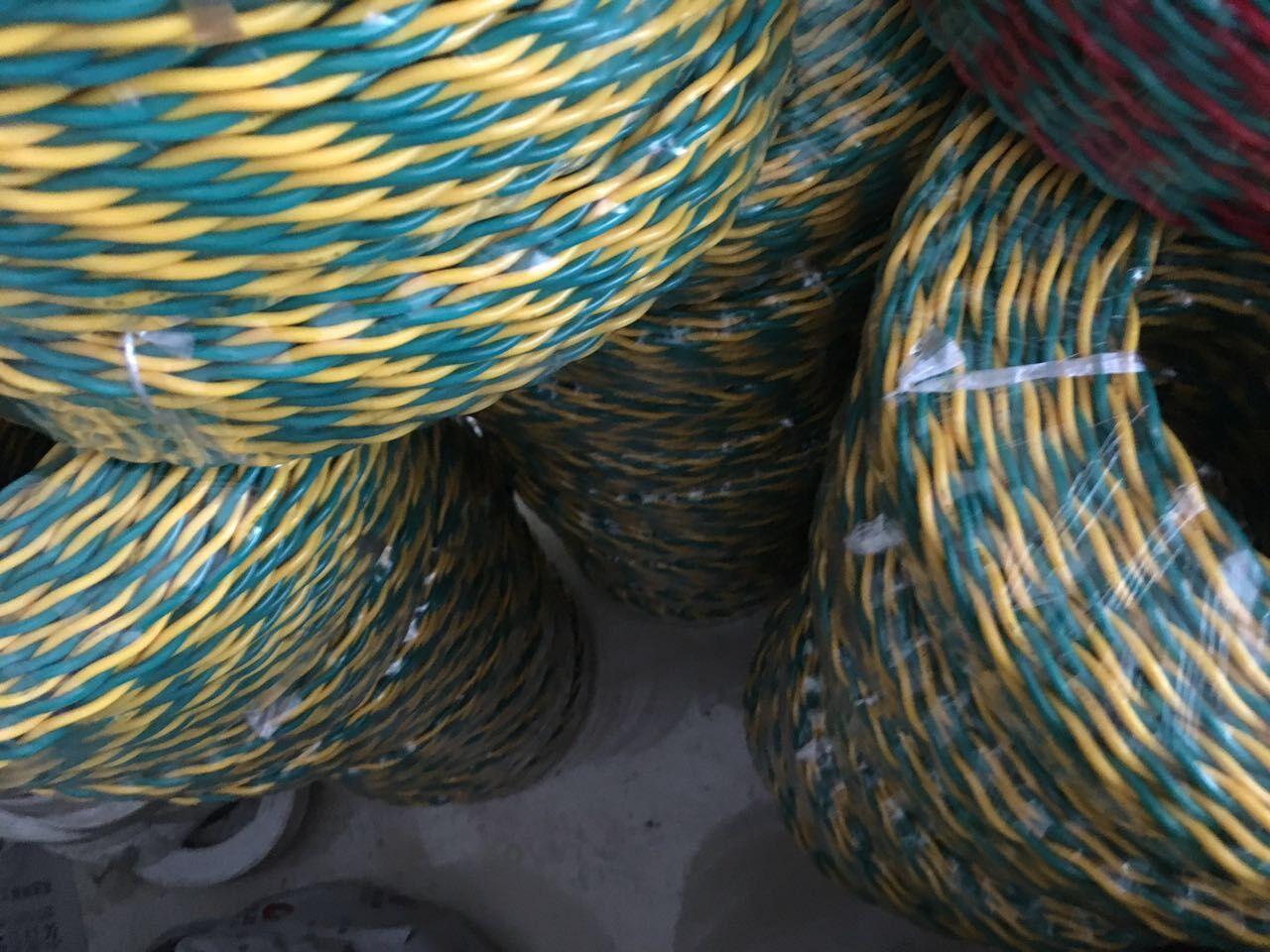 雙色線RVS花線-對絞線RVS2×2.5紅黃線-純銅**-**廠家電纜公司