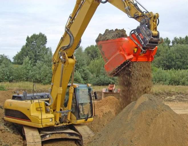 上海三一挖机土壤修复混合筛分斗