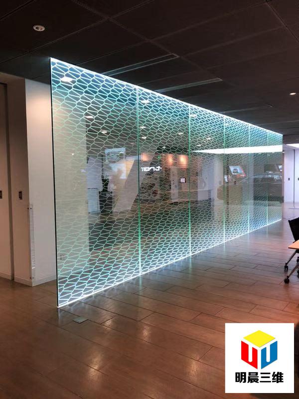 上海發光玻璃激光內雕加工