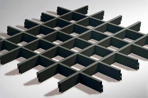 木纹铝格栅制作