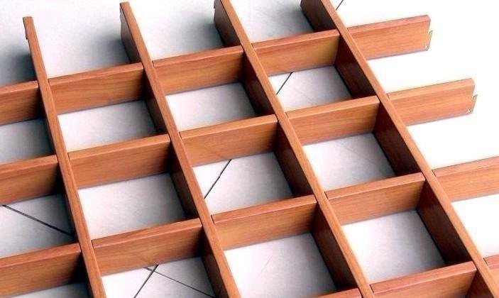 木纹色铝格栅