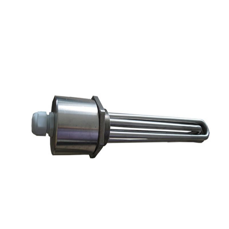 供应钰凯电器 加热液体法兰加热管 干烧 法兰加热器 电热管