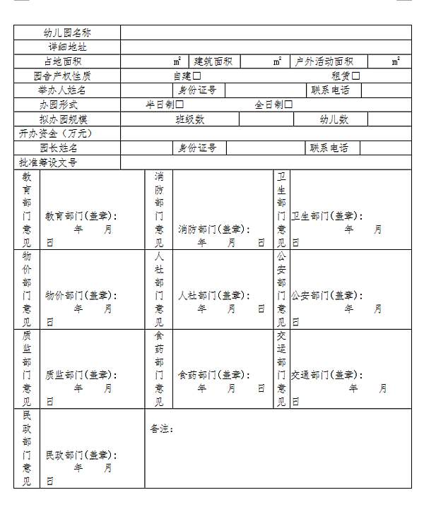 北京幼儿园审批流程