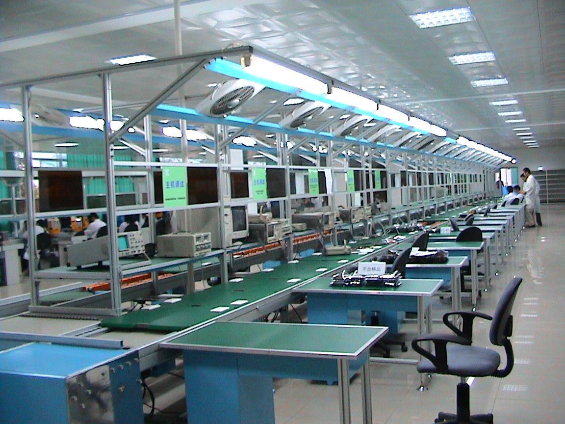 博萃制造倍速鏈裝配生產流水線設備