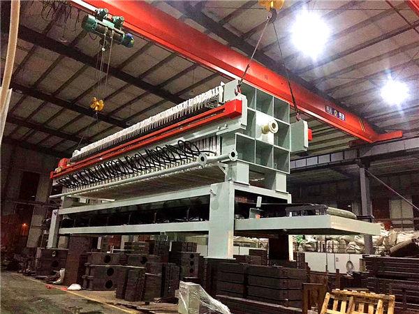 生活污水450平方自動快速卸料板框式壓濾機污泥輸送帶浙江廠家全國優惠供應