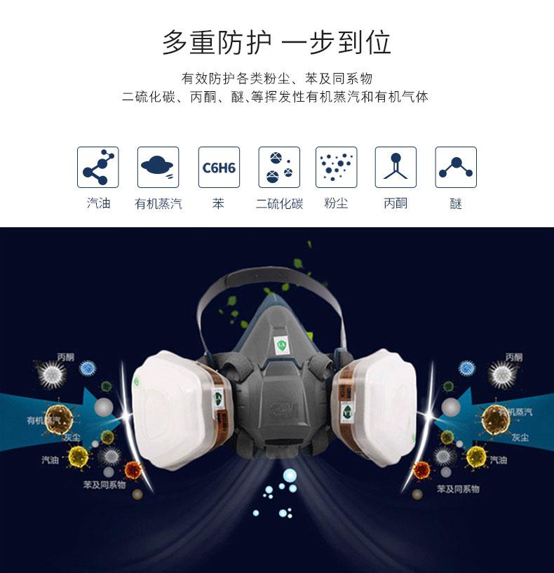 常州3M6800全面罩呼吸防护特点