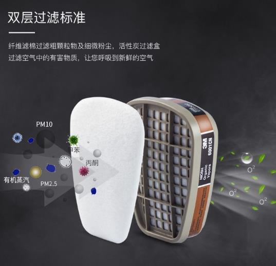 石家庄3M面罩滤毒盒滤棉呼吸防护特点
