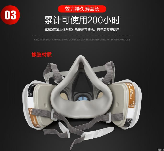 杭州3M 3100半面罩呼吸防护性能