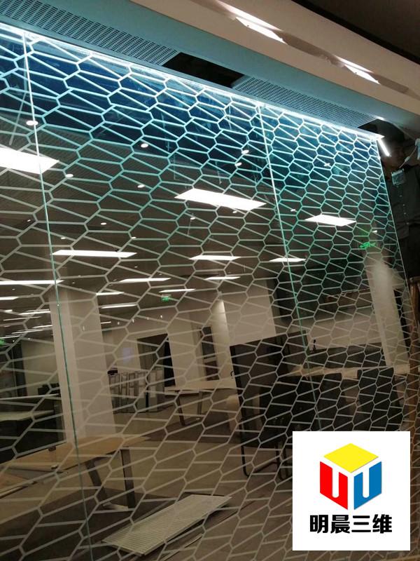 株洲隔斷內雕玻璃廠家 明晨三維科技