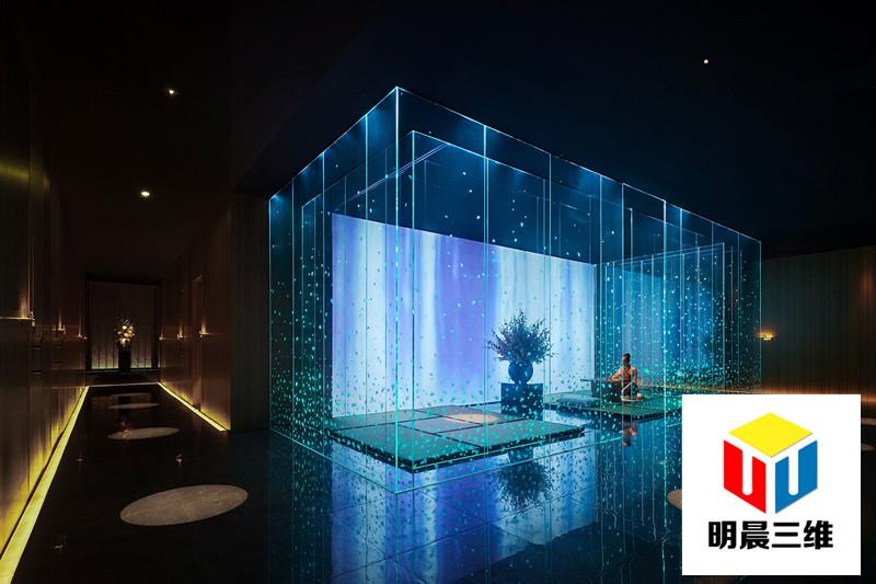 上海設計應用中的激光內雕玻璃