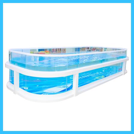 親子鋼結構游泳池組裝