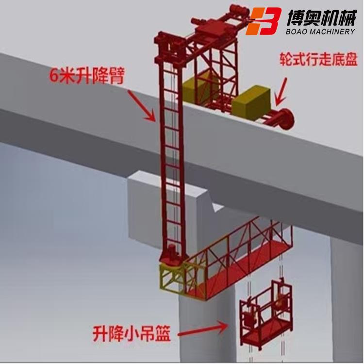 桥梁侧面泄水管安装施工设备