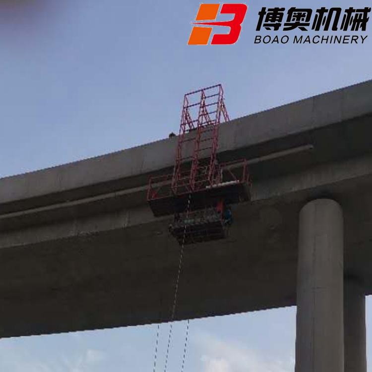 桥梁PVC排水管吊篮安装视频