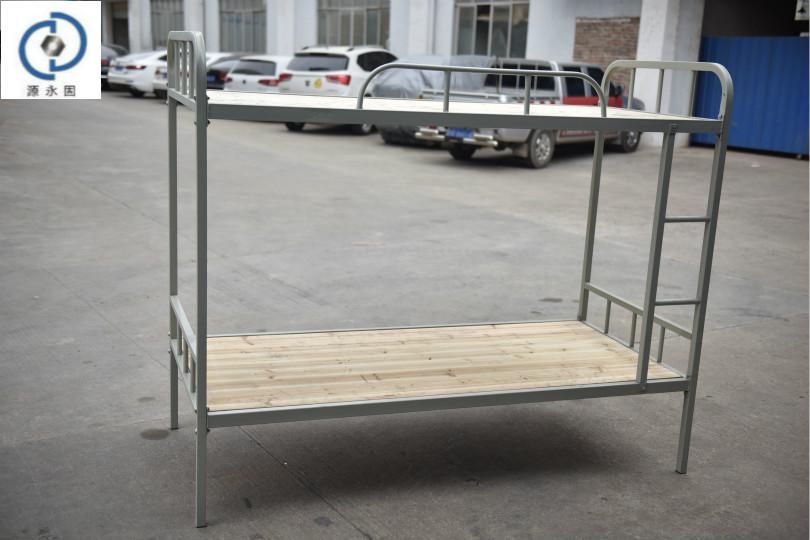 郴州學生床永固彎管子帶踏板上下鋪鐵床