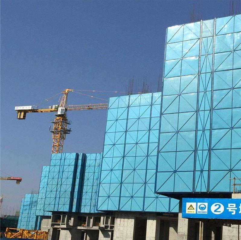 蓝色带边框爬架网