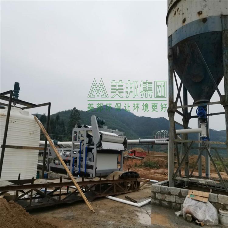 黔南河道清淤污泥压干机操作方法