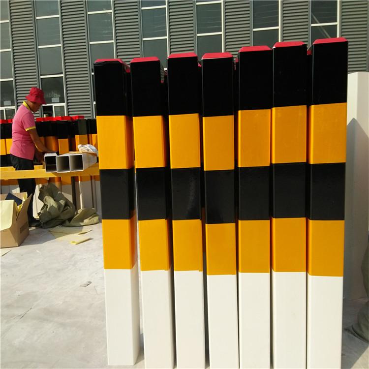 黑黄反光警示柱-河南玻璃钢道口警示桩