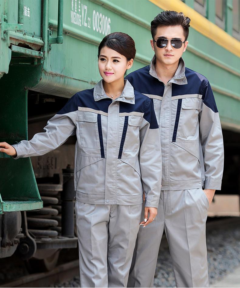 威海春秋勞保服工作服定制印logo 吸濕排汗