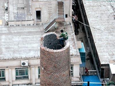 江西烟囱拆除公司 烟筒定向爆破