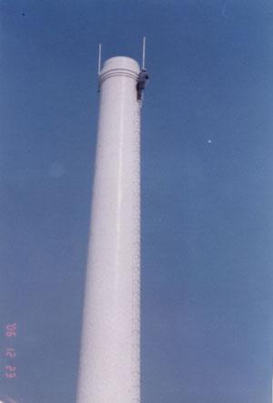50米砖烟囱维修 济源砖烟囱加固