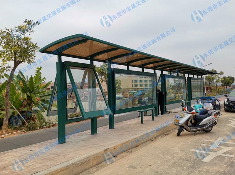 鋼結構公交站臺生產商 新型設計又好用