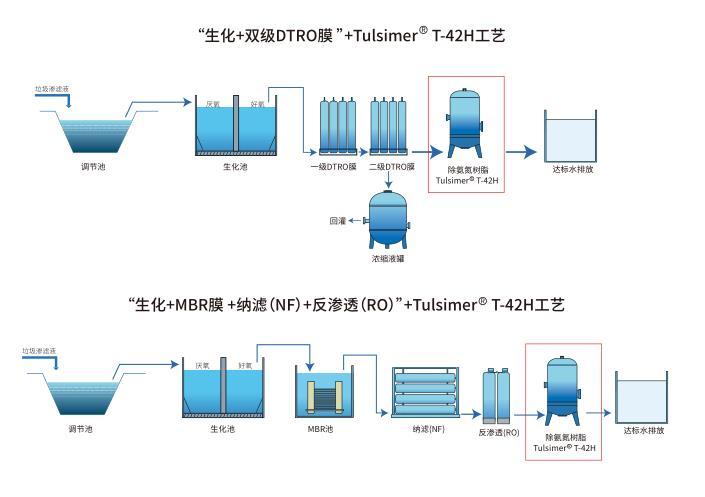 蒸发冷凝水除总氮树脂深度水处理