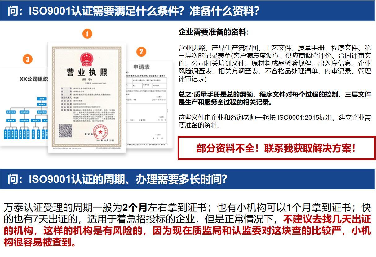 舟山ISO质量认证