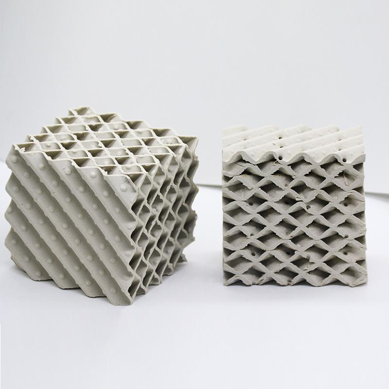 陶瓷板波紋規整填料 550Y陶瓷波紋填料 精餾