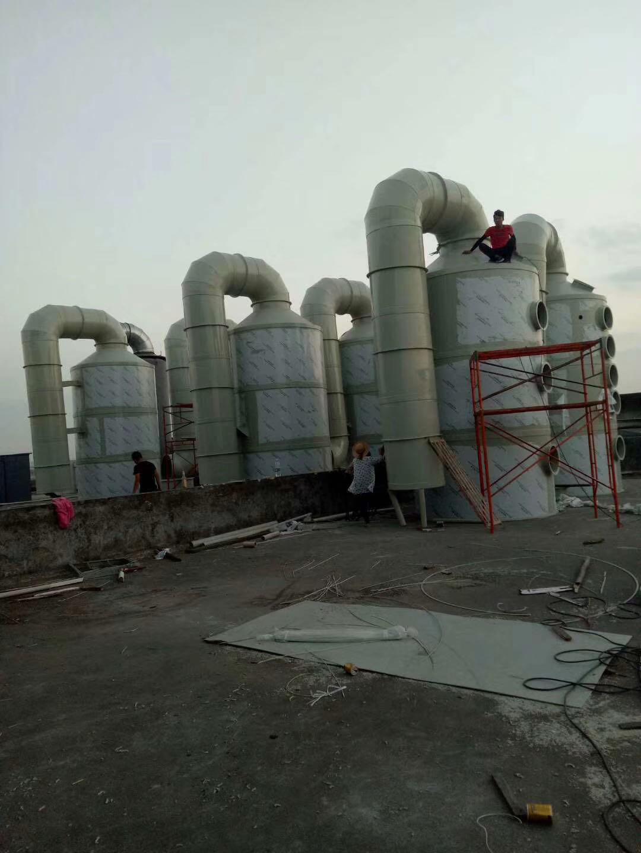 生产商 玻璃钢塔 嘉兴环保PP水喷淋塔