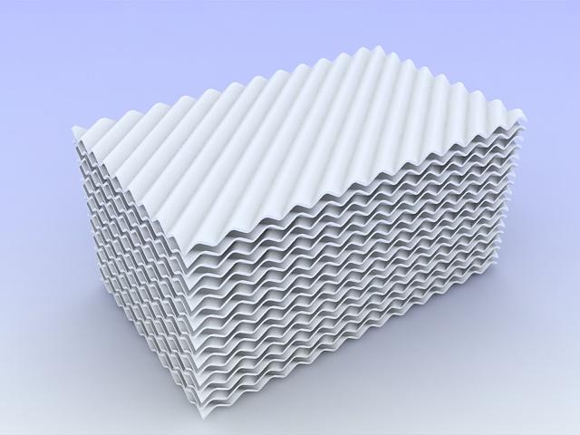 陶瓷板波纹规整填料 550Y陶瓷波纹填料 精馏