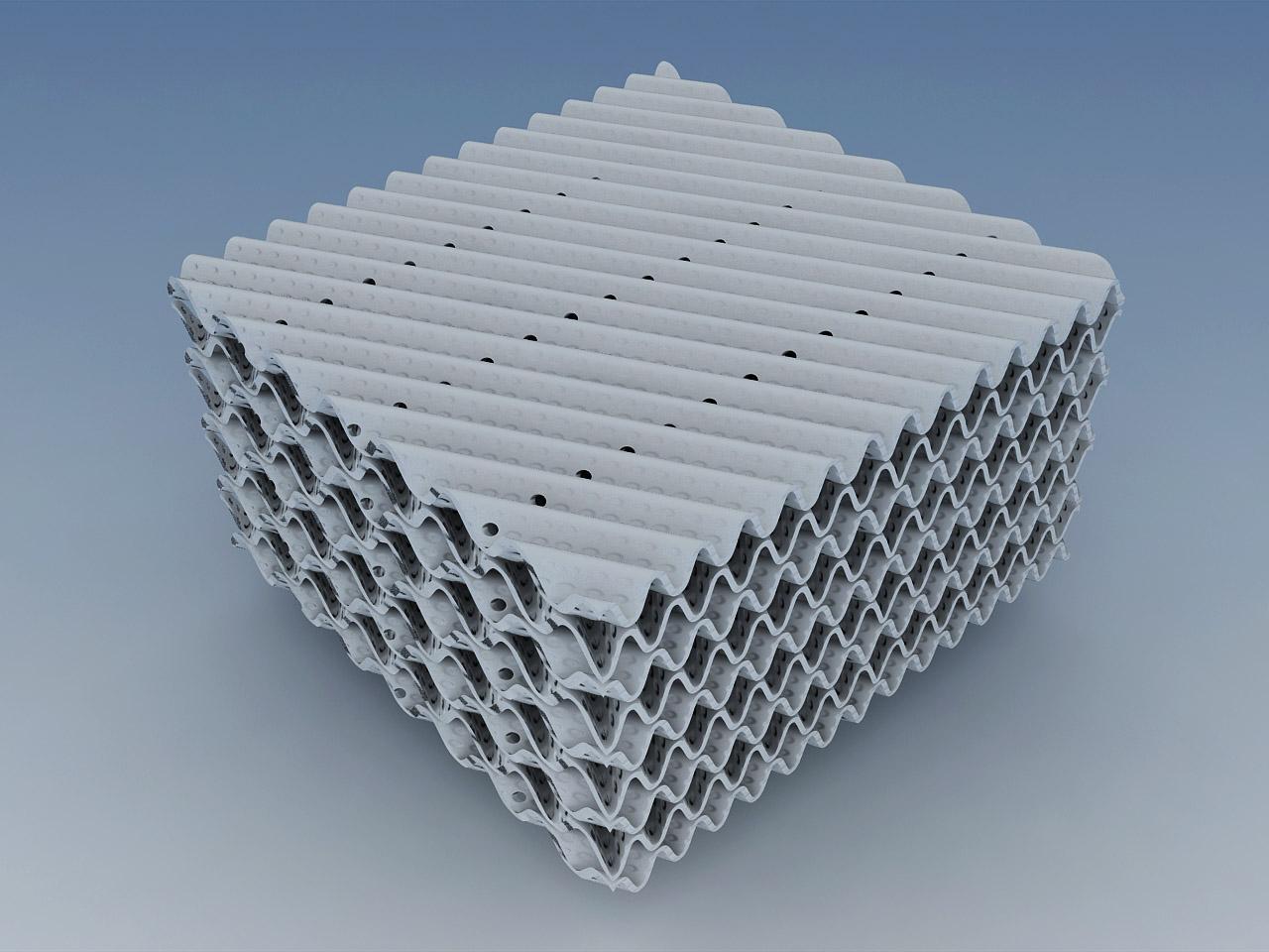 陶瓷波纹填料生产厂家 400Y陶瓷波纹填料 抗压强度