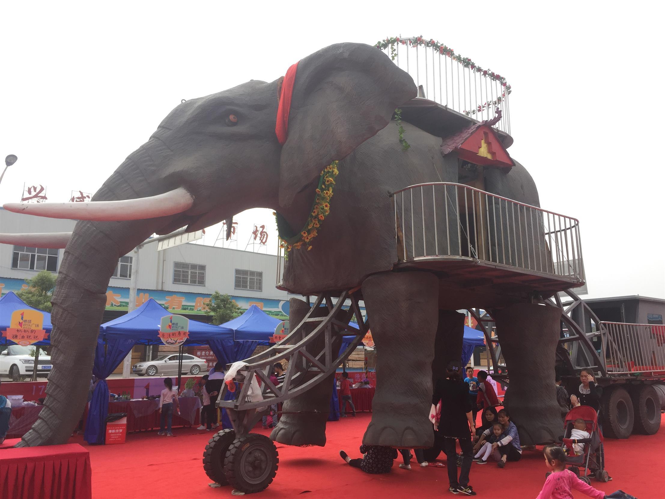 西安機械大象出租價格 巡游大象租賃