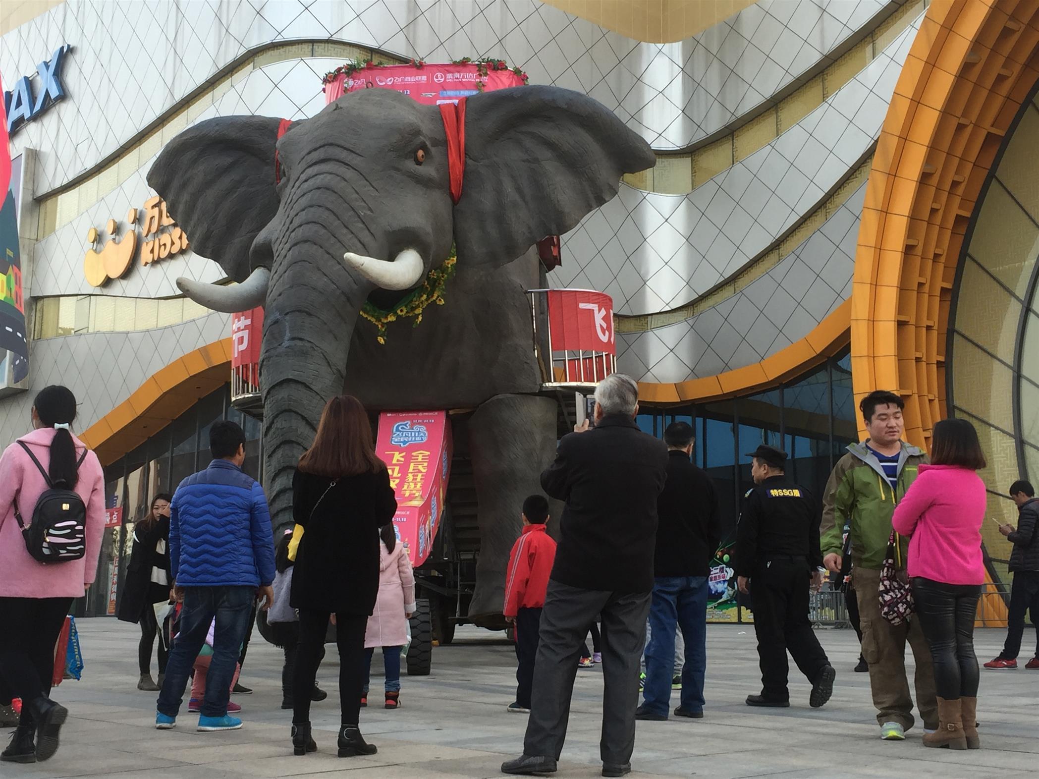 無錫機械大象出租廠家 巡游大象出租