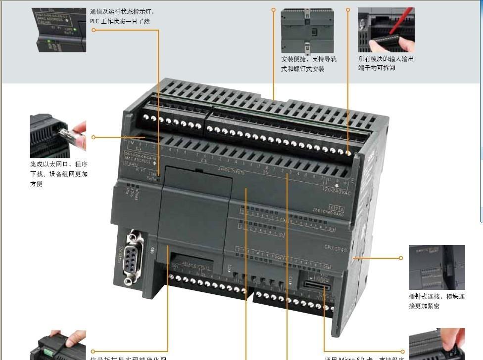 西门子S7-200SMART继电器输出CPUST30