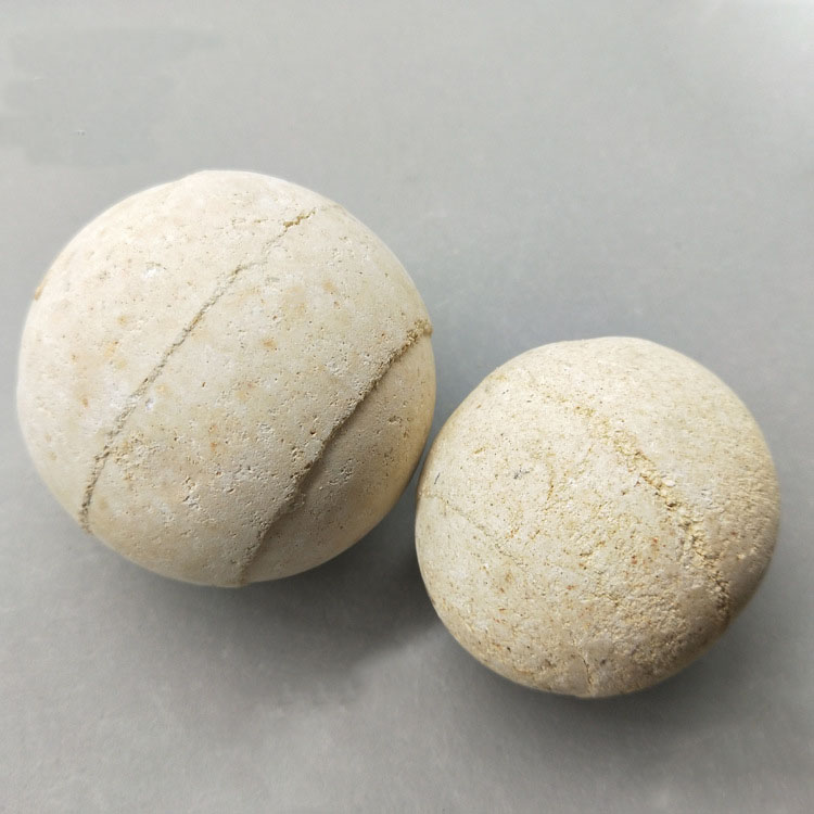 中瓷球 脱硫剂用惰性瓷球 瓷球群星