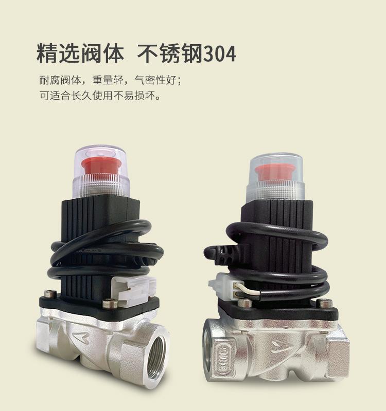 便攜可燃氣體報警器 帶電磁閥可燃氣體報警器