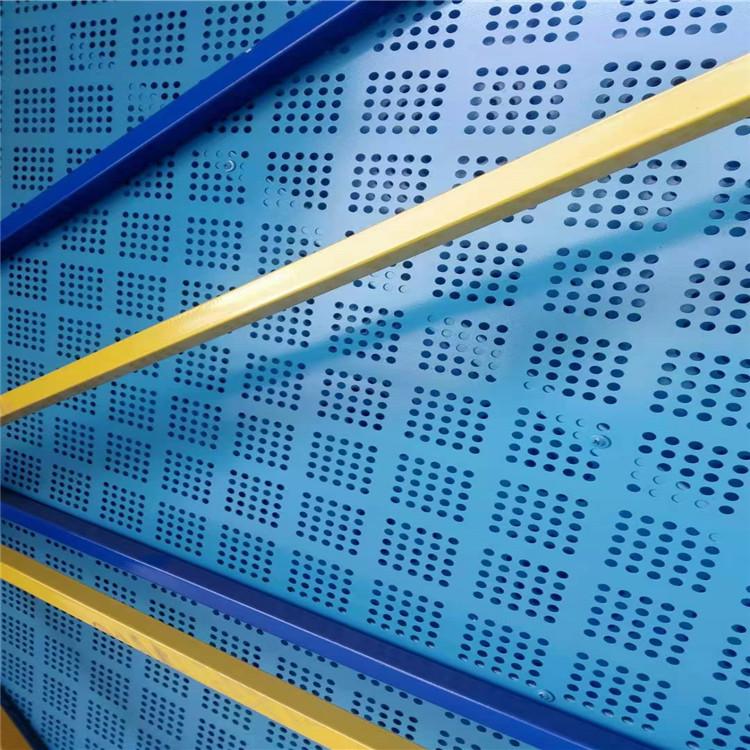 蓝色带边框爬架网生产厂家