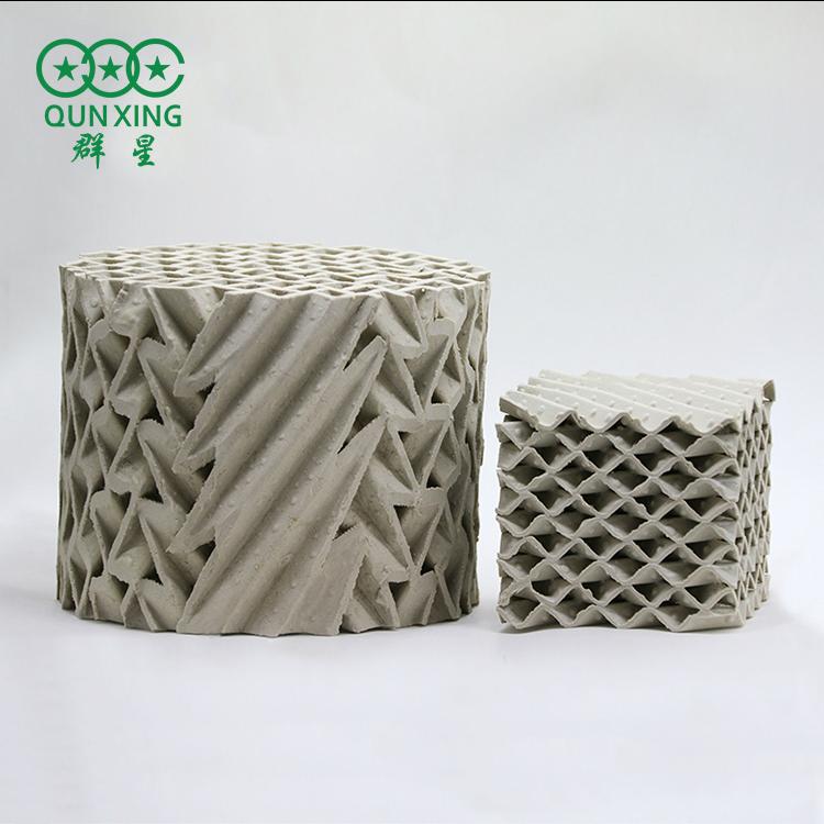 125Y 陶瓷波纹填料 丝网波纹填料 萍乡群星