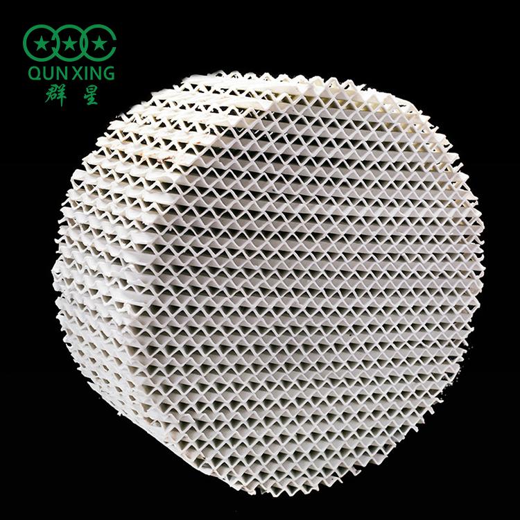 100Y陶瓷波纹填料 陶瓷孔板波纹填料 规整填料 萍乡填料厂家群星