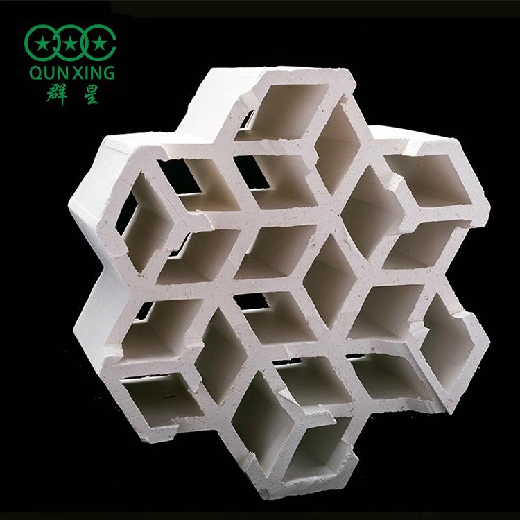 陶瓷七孔連環填料 瓷環 陶瓷組合環填料 規整填料廠家 群星