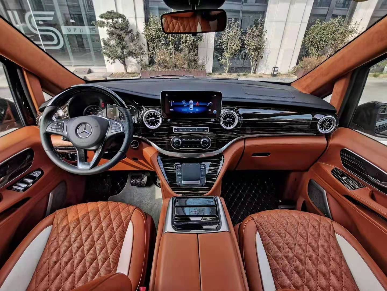 原装进口奔驰V250豪华7座商务车改装
