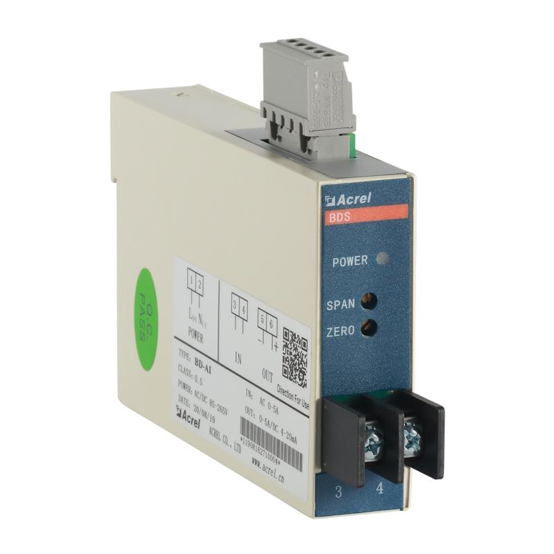 安科瑞電力變送器BD-AI單相交流電流輸出4-20mA或0-5C直流信號
