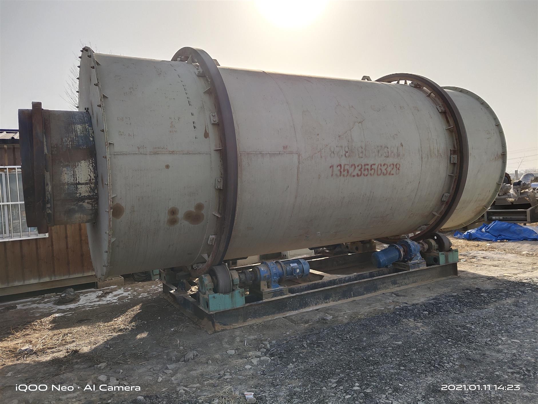 转让二手时产25吨河沙烘干机** 滚筒烘干机