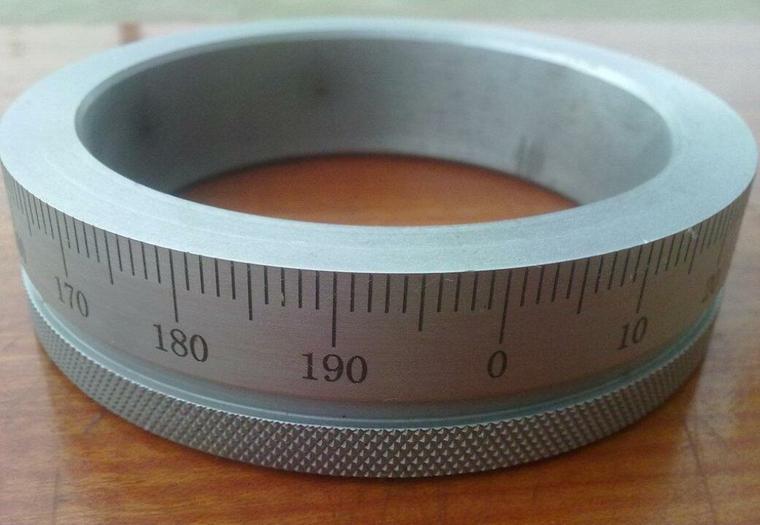 不銹鋼刻度環 分度盤 測量尺子 激光圓周刻刻度來圖訂制 -華諾激光