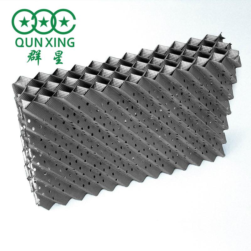 250Y孔板波紋填料 金屬規整填料 304不銹鋼塔填料廢氣回收孔板填料 群星