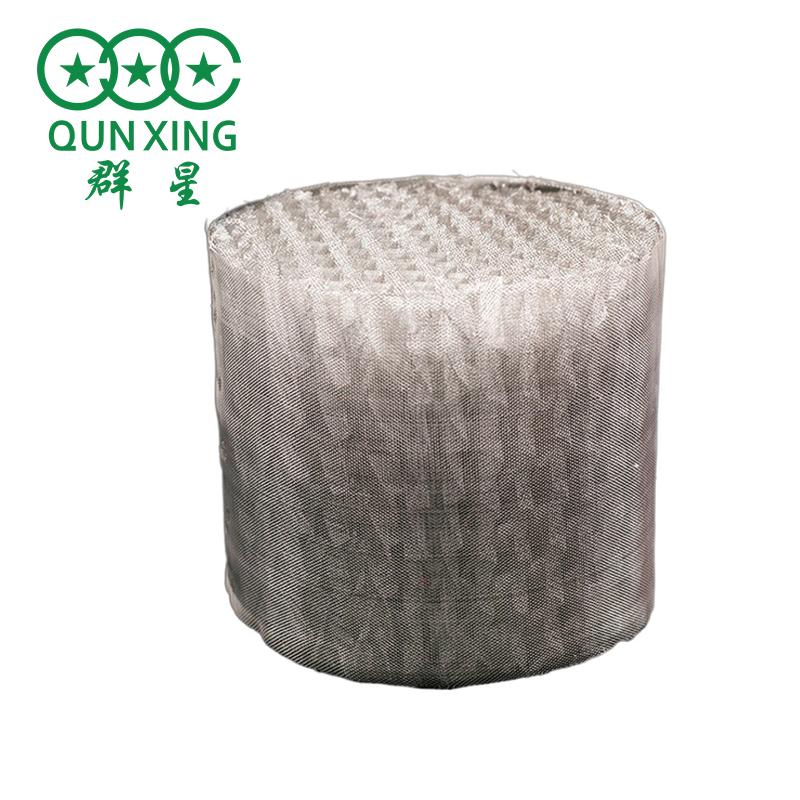 絲網填料 定制不銹鋼孔板波紋填料 BX500金屬絲網波紋填料 群星