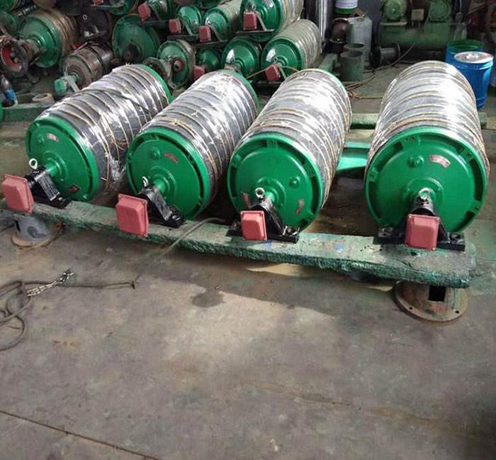 防塵防潮油冷式直徑400內裝式四級電機電動滾筒